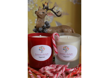 Peppermint Scented Container Candle