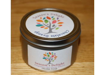 Chocolate Orange Scented Soy Container Candle