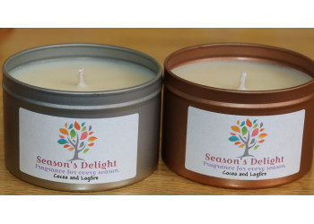 Cocoa And Logfire Fragranced Container Candle