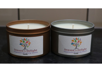 Vanilla Soy Wax Container Candle